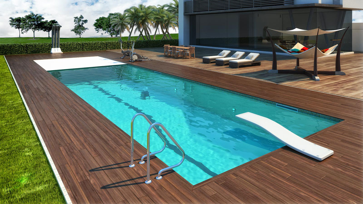 Sport style for Blu design piscine napoli
